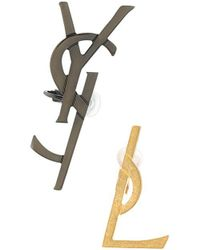 Saint Laurent   Logo Earrings   Lyst