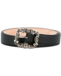 Alexander McQueen - Engraved Buckle Belt - Lyst