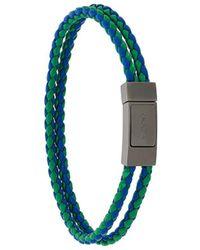 Prada - Double Braided Bracelet - Lyst