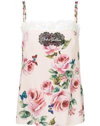 Dolce & Gabbana | Floral Camisole | Lyst