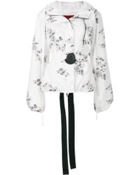 Moncler Gamme Rouge Floral Patch Hooded Jacket