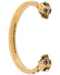 Alexander McQueen - Skull Cuff Bracelet - Lyst