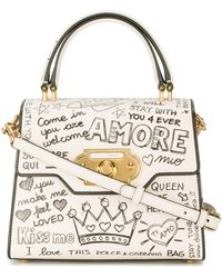 Dolce & Gabbana - Welcome Printed Leather Bag - Lyst
