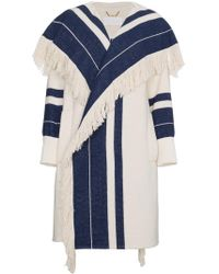 Chloé - Striped Blanket Coat - Lyst
