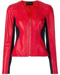 Versace - Collar-less Motorcycle Jacket - Lyst