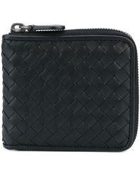 Bottega Veneta - Zipped Woven Leather Wallet - Lyst