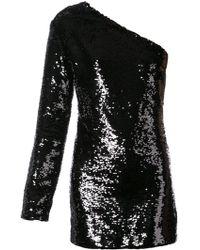 a81e2a6aa7 Lyst - Elizabeth and James Sequin Mini Dress in Black