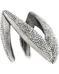 Saint Laurent - Crystal Chevron Bracelet - Lyst