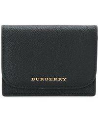 Burberry - Logo Foldover Wallet - Lyst