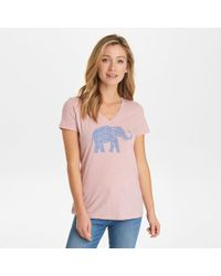 3fa0831871e8 G.H.BASS - G.h. Bass Aztec Elephant Graphic V-neck Tee - Lyst
