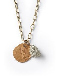 G.H. Bass & Co. - Astali ® Pyrite Stone Coin Necklace - Lyst