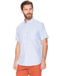 G.H. Bass & Co. | Short Sleeve Solid Oxford Shirt | Lyst