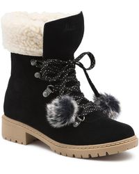 89ddb8384c8a Lyst - Pajar Abigail Waterproof Suede   Leather Boot in Black