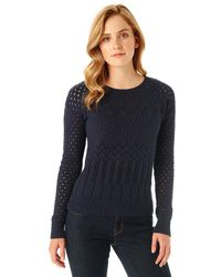G.H. Bass & Co. - Pointelle Crewneck Sweater - Lyst