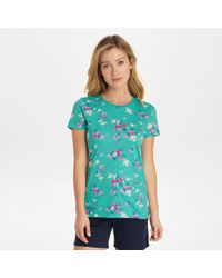 G.H.BASS -  Allover Floral Crew Tee - Lyst