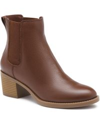 G.H. Bass & Co. - Grayden Leather Gore Bootie - Lyst