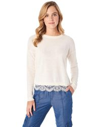 G.H. Bass & Co. - Lace Trim Pullover - Lyst
