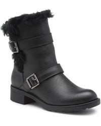 48fd4dcbe0e6 Lyst - Public Desire Mara Strappy Heels In Black Faux Suede in Black