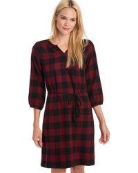 G.H. Bass & Co. - Buffalo Check Dress With Tassel Belt - Lyst