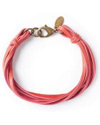 G.H. Bass & Co. - Astali ® Deerskin Leather Bracelet - Lyst