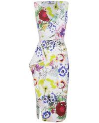 5ce56c2171c3 Chiara Boni - CHIARA BONI abito fantasia multicolour fiori - Lyst