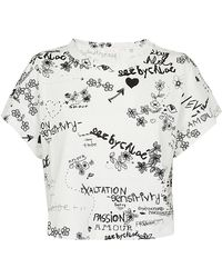 See By Chloé - SEE BY CHLOE' T-shirt stampa bianca - Lyst