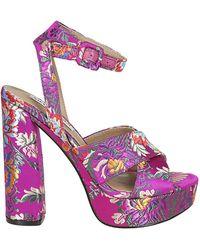 5d4dc7ee85f Lyst - Steve Madden Women S Gea Two-Piece Dress Sandals in Red