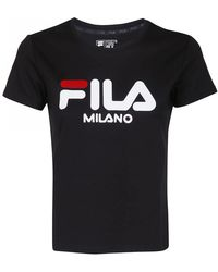 a24f8be76fc Amplified Taped Black Crop Top.  28. ASOS · Fila - FILA t-shirt nera con  logo - Lyst