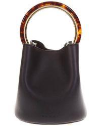 2275f3f63c Lyst - Marni Ekta Print Shopping Tote Bag in Red