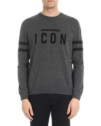 DSquared² - Icon Flocked Wool Knit Sweater - Lyst