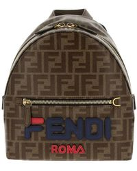 27ff4643d721 Lyst - Fendi Mini Flower Appliqué Backpack Blue(last One With Minor ...