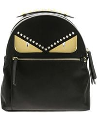 bc069679185 Fendi - Monster Eyes Nylon And Leather Backpack With Bag Bugs Eyes Metal  Patch - Lyst