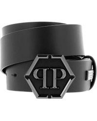 156b9bb96b Philipp Plein Skull Buckle Belt in Black for Men - Lyst