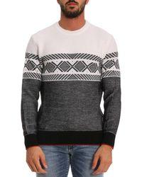 Z Zegna - Jacquard Wool Crewneck Sweater - Lyst