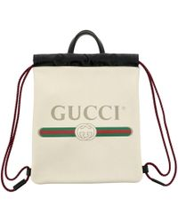 1ec5a1e9326a Lyst - Gucci Gg Nylon Backpack From The Viaggio Collection in Red ...
