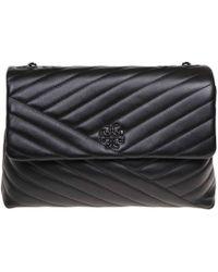 8f534e2ffca0e Tory Burch - Kira Shoulder Bag In Black - Lyst