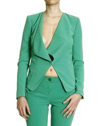 Patrizia Pepe - Blazer Jacket Sciallata Crepes Di Viscosa Stretch - Lyst