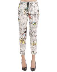 Manila Grace - Pantalone Donna In Viscosa E Seta Con Coulotte In Cotone Ed Elastan - Lyst