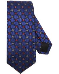 Gucci - 7 Cm Tie In Pure Silk With Wallpaper Monogram - Lyst