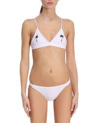 Chiara Ferragni - Eyes Printed Triangle Bikini - Lyst