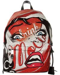 Moschino - Backpack Moschinoeyes Capsule Collection In Cotton With Moschino Drink Print - Lyst