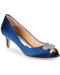 Badgley Mischka - Nakita Embellished Satin Court Shoes - Lyst