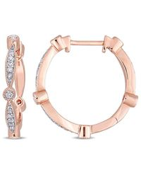 Rina Limor - Fine Jewelery 10k Rose Gold 0.32 Ct. Tw. Diamond Studs - Lyst