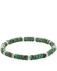 Link Up - African Turquoise Beaded Bracelet - Lyst