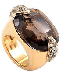 Pomellato - 18k 0.54 Ct. Tw. Diamond & Quartz Size 6.5 Ring - Lyst