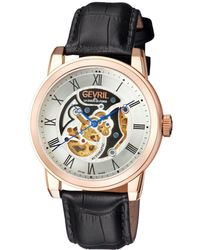 Gevril Watches - Vanderbilt Rose Silver-tone Dial Automatic, 47mm - Lyst