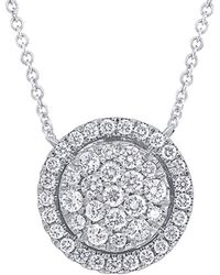 Diana M. Jewels - . Fine Jewelry 14k 0.48 Ct. Tw. Diamond Necklace - Lyst