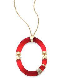Alexis Bittar - Lucite & Swarovski Crystal Oval Pendant Necklace - Lyst