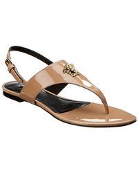d5a47cc4b810 Versace - Medusa Palazzo Sling Back Patent Sandal - Lyst