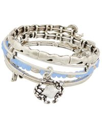 ALEX AND ANI - Set Of 4 Nautical Expandable Bangles - Lyst